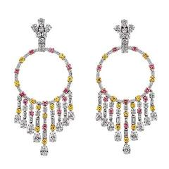 "GRAFF ""GYPSY"" Color Diamond Earclips"