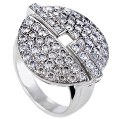Cartier Himalia White Gold Diamond Pave Ring