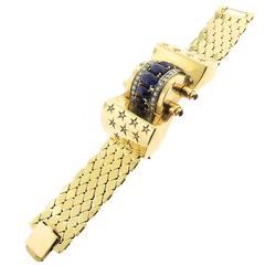 YG Bracelet with Sapphires & Diamonds