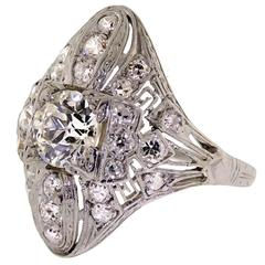 Art Deco Platinum Lady's Diamond Ring