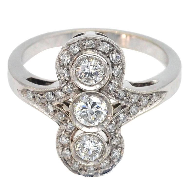 Art Deco Diamond and White Gold Ring