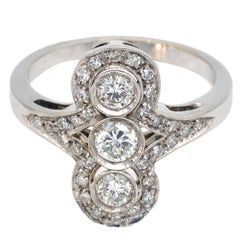 Art Deco Style Diamond and White Gold Ring