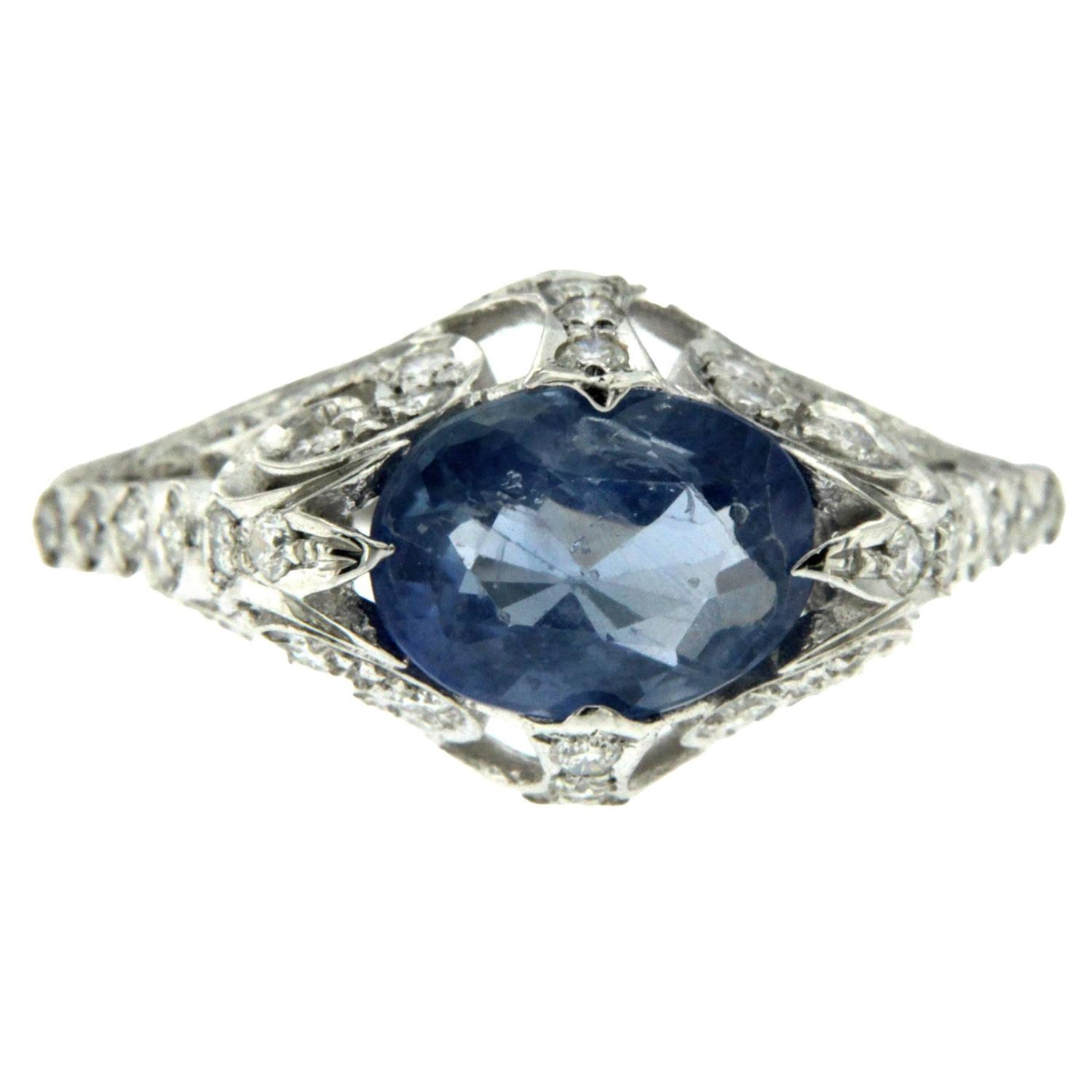 gold ring size halo sapphire diamond light la blue design rose by products more in engagement natural