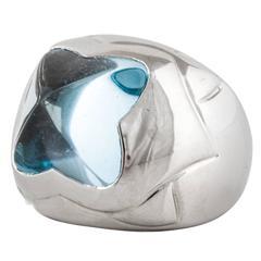 Bulgari Ring with Blue Topaz