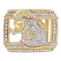Diamond Gold Belt Buckle