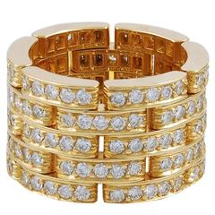 Cartier Gold and Diamond Wedding Band