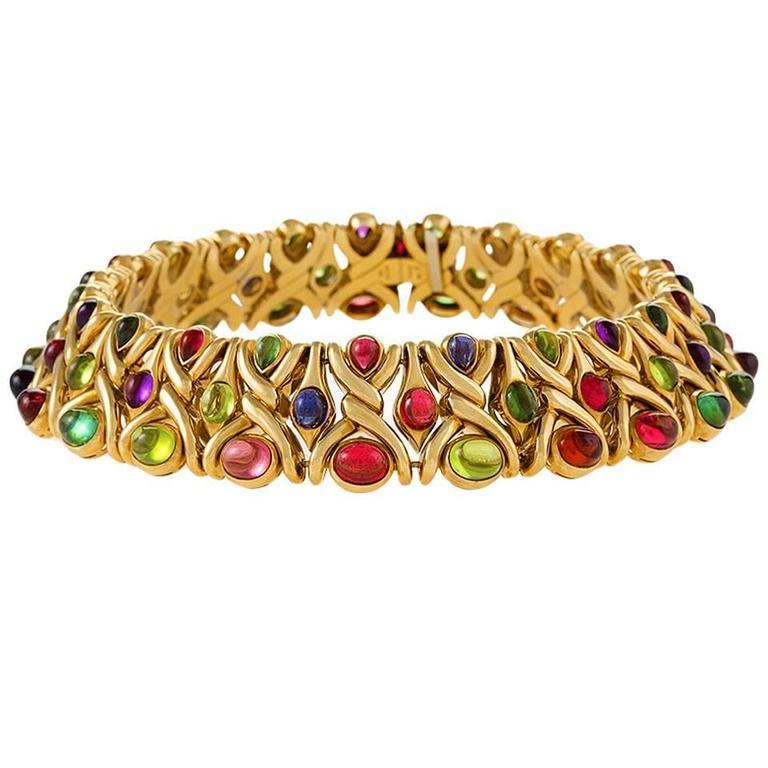 Bulgari 1980's Multi-gem Necklace 1