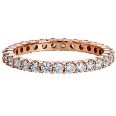 One Carat Diamond Eternity Rose Gold Band