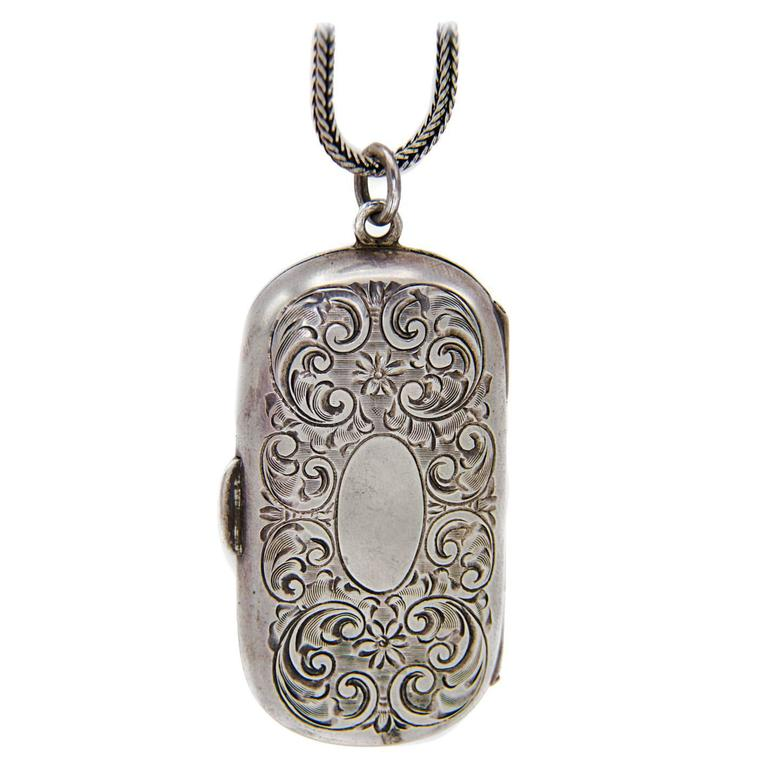 Antique victorian sterling silver coin holder locket 1880s for antique victorian sterling silver coin holder locket 1880s for sale aloadofball Choice Image