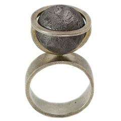 Architectual Meteorite Statement Ring