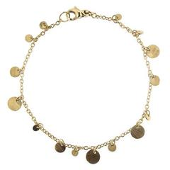 Jona Multi-Coin Yellow Gold Chain Bracelet
