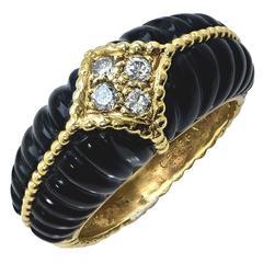 Van Cleef & Arpels Diamond Onyx  Ring
