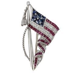 Stars And Stripes Flag Pin By Oscar Heyman