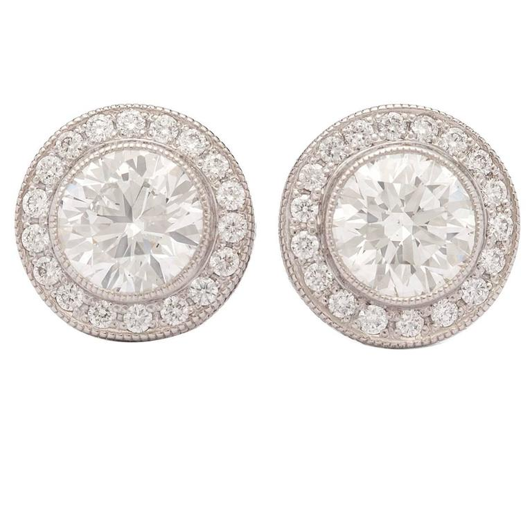 earring rose gold products bezel collections and morganite stud set white diamond mcaskill mark
