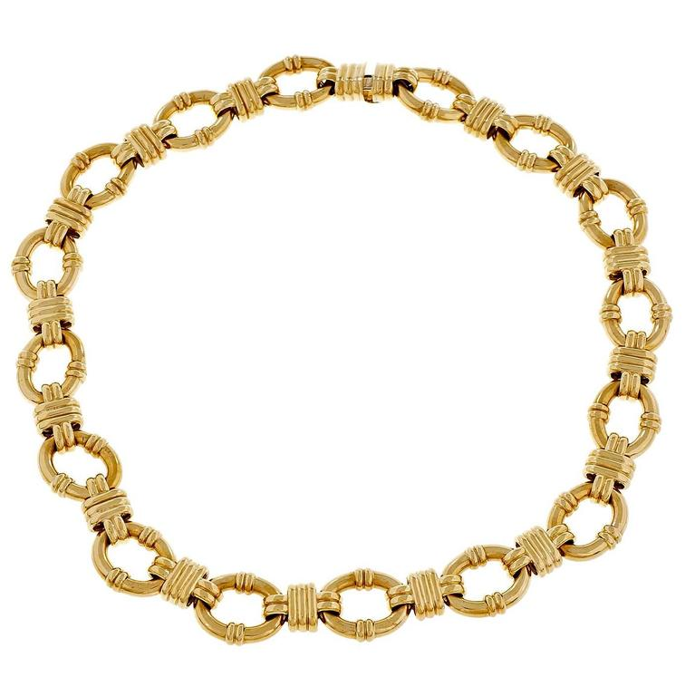 Tiffany & Co Fancy Gold Link Necklace