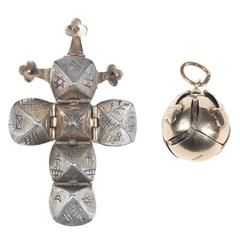 Victorian Masonic Ball Pendant