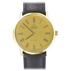 Omega Quartz De Ville Gold Men Watch