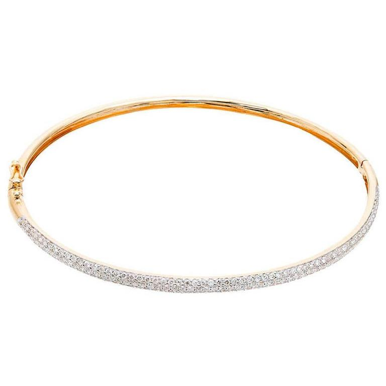 products semi s bangle diamonds pav pave oval gold micro bangles bracelet in