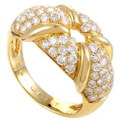 Chaumet Yellow Gold Diamond Pave Ring