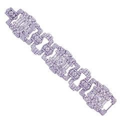 Important Art Deco  Cartier Diamond Bracelet r