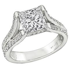 Amazing GIA Cert 2.06 Carat Diamond Platinum Engagement Ring