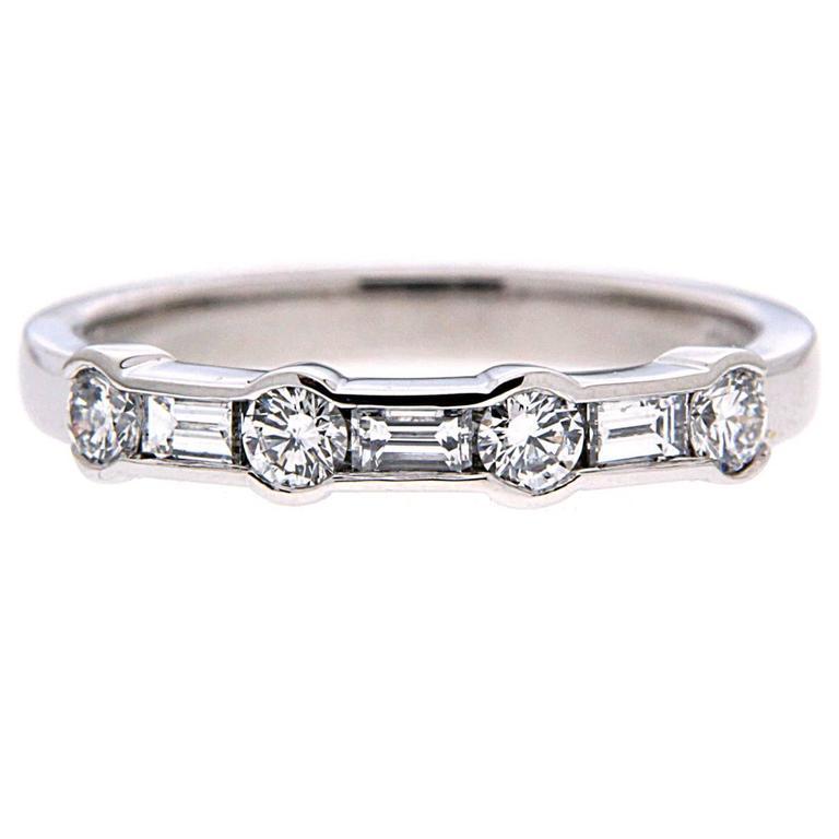 Alternating Channel Set Diamond Ring in Platinum 1