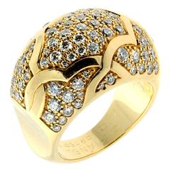 Chanel Camelia Diamond Gold Ring