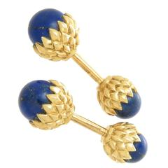 Tiffany & Company Schlumberger Lapis Acorn Cufflinks
