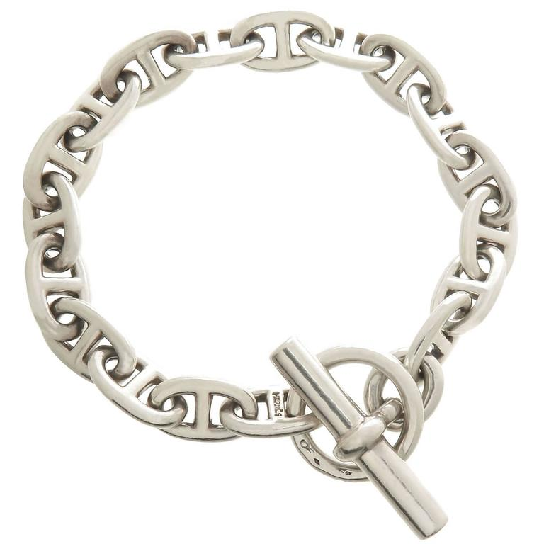hermes sterling silver chaine d 39 ancre link bracelet at 1stdibs. Black Bedroom Furniture Sets. Home Design Ideas