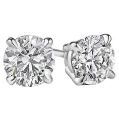 Diamond Studs Earrings 2.00 Carats GIA Certified