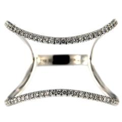 Jona White Diamond 18 Karat White Gold Open Band Ring