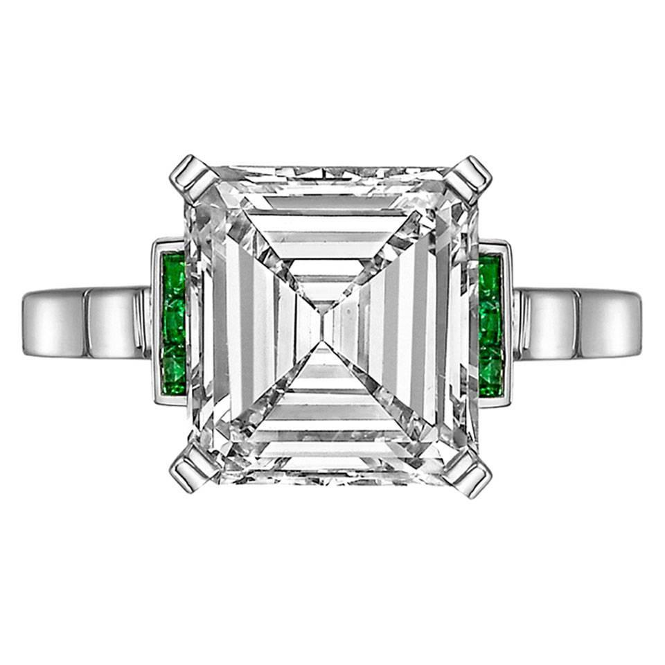 Betteridge 3 43 Carat Emerald Cut Diamond Ring For Sale at 1stdibs