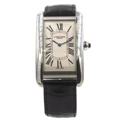 Cartier Platinum Special Edition Tank American Manual Wind Wristwatch
