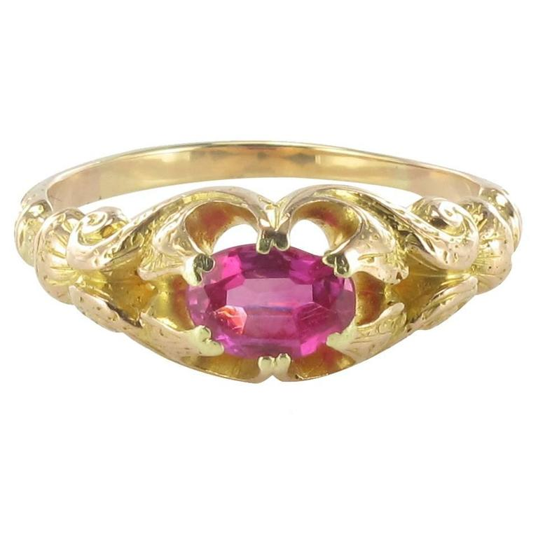 1900s Ruby Gold Ring
