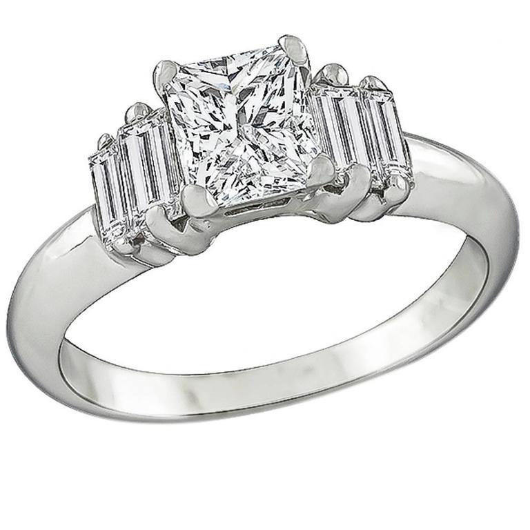 Princess Cut Diamond Gold Engagement Ring