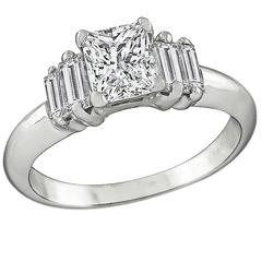 Princess Cut Diamond Gold Engagement Ring