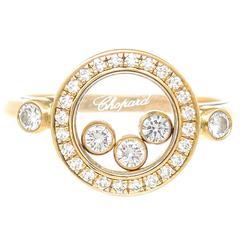 Chopard Happy Diamond Yellow Gold Ring