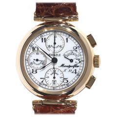 Kienzle Montgolfier Yellow Gold Chronograph Automatic Wristwatch