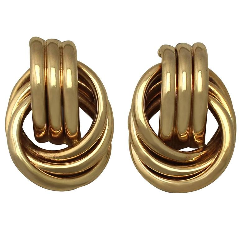 1950s Yellow Gold Earrings