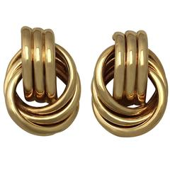 1950s Yellow Gold Earrings