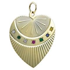 DEAREST Gold Heart Charm