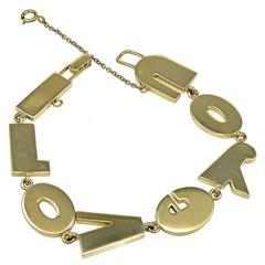 TIFFANY & CO. Gold I Love You Bracelet