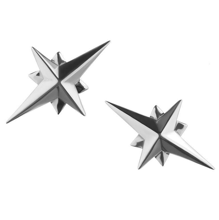 Tessa Packard London, Sterling Silver Star Ear Studs For Sale