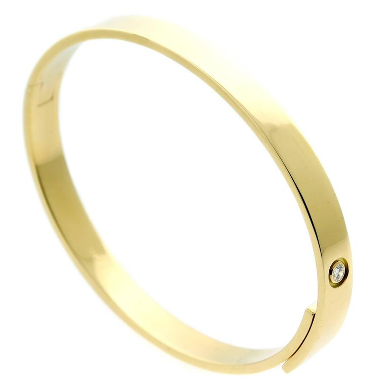 Cartier Anniversary Gold Diamond Bangle  For Sale