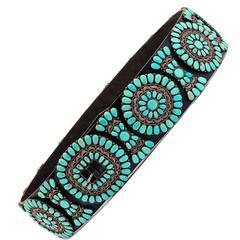 Spectacular Turquoise Set Zuni Concho Belt
