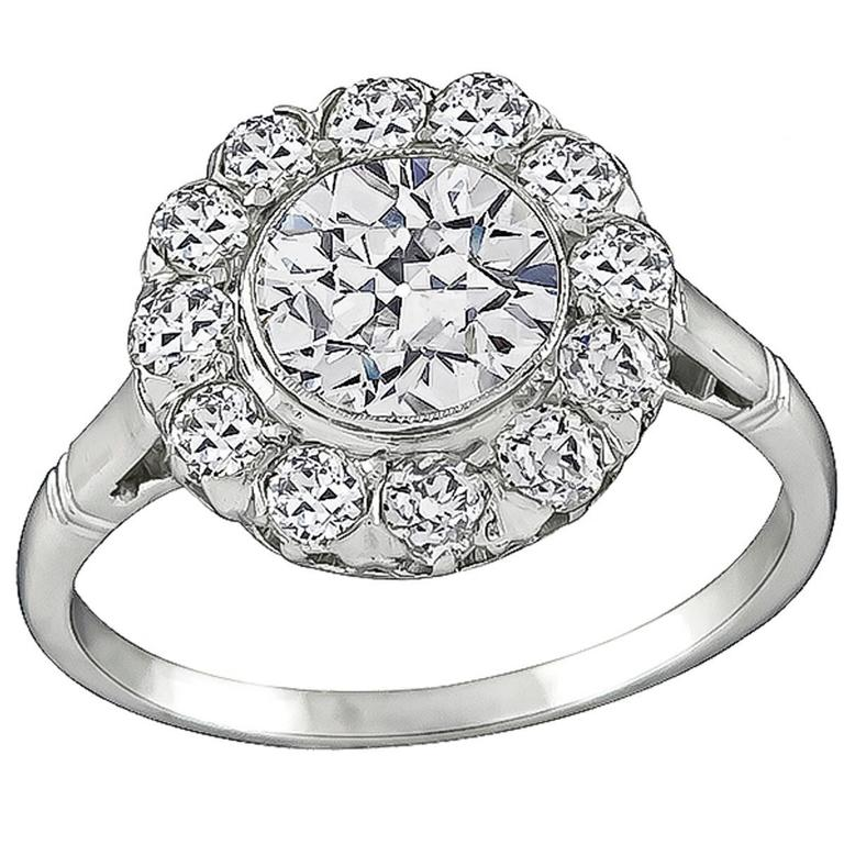 1.17 Carat Diamond Engagement Ring 1