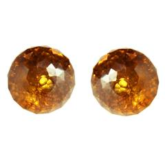 Paolo Costagli Citrine Stud earrings in 18k gold