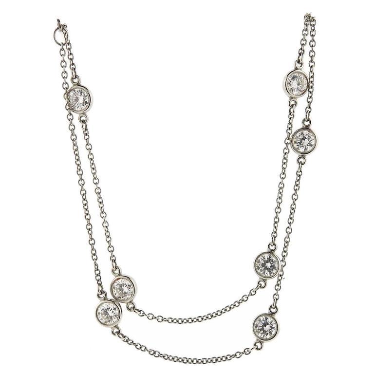 Tiffany And Co Elsa Peretti Diamonds By The Yard Platinum