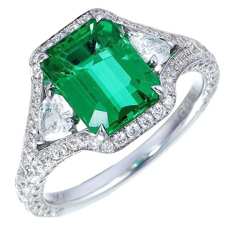 2 63 carat emerald gold ring for sale at 1stdibs