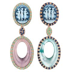 """Amedeo """"Muse"""" Couture Earrings"""